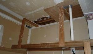 Water Damage and Mold In Closet Undergoing Repairs